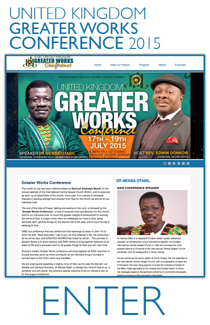 ICGC Greater Works Conference 2014